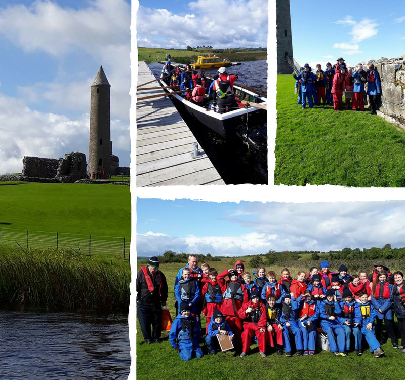Our Island Explorers set sail for Devenish Island on Lough Erne